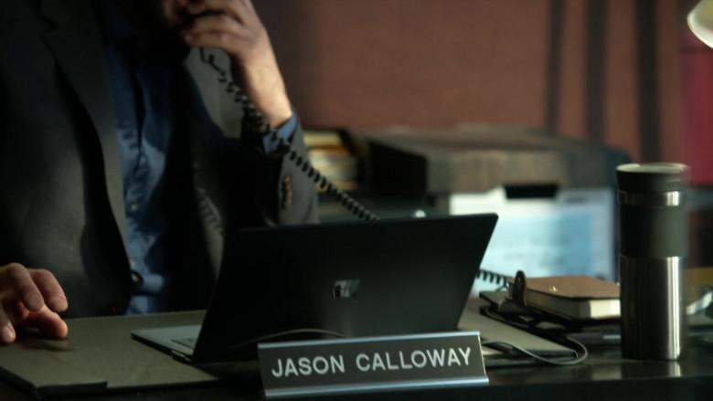 Microsoft Surface Black Notebook of David Fumero as Lt. Jason Calloway in L.A.'s Finest S02E06