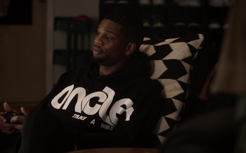 Moncler Men's Black Hoodie Outfit in Power Book 2 Ghost S01E03 TV Show (1)