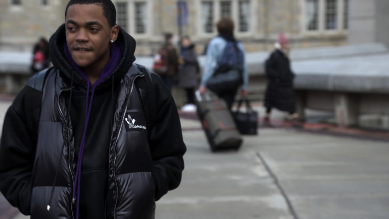 Moncler Vest Street Style Outfit of Michael Rainey Jr. as Tariq St. Patrick in Power Book 2 Ghost S01E04 TV Show (2)