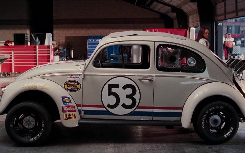 Nascar Nextel Cup Series, Sunoco, Edelbrock, Auto Meter & Goodyear Tires Stickers in Herbie Fully Loaded (2005)