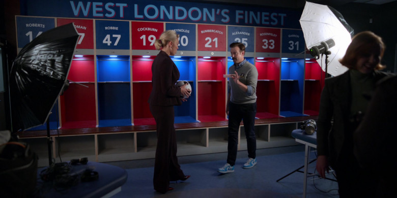 Nike AJ 1 Low Top Blue-White Sneakers of Jason Sudeikis in Ted Lasso S01E09
