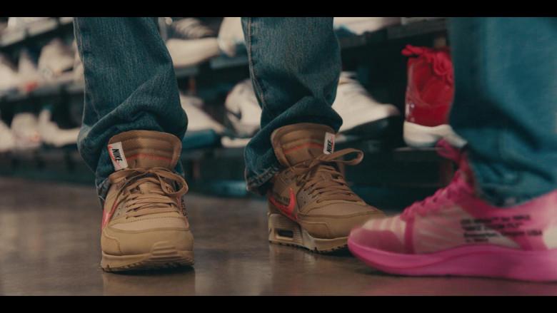 Nike Air Max 90 x Off-White Desert Ore Brown Sneakers of Matthew Josten as Stuey in Sneakerheads S01E02