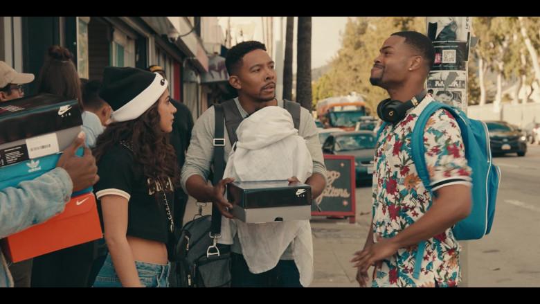 Nike Air Shoe Box Held by Allen Maldonado as Devin in Sneakerheads S01E02