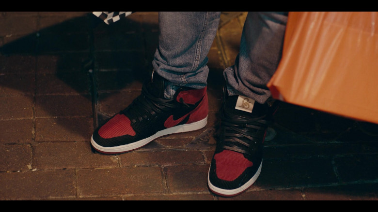Nike Black-Red Sneakers of Andrew Bachelor as Bobby in Sneakerheads S01E04 (1)
