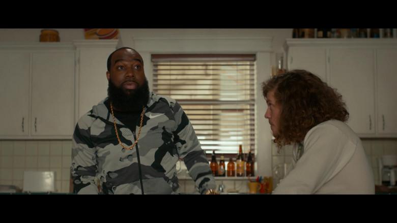 Nike Camo Hoodie Outfit of T. Murph as Clovis in Woke S01E02