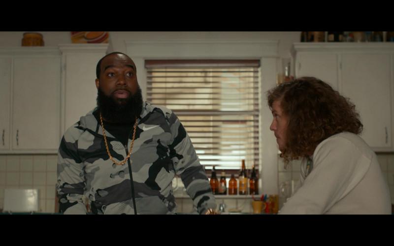 Nike Camo Hoodie of T. Murph as Clovis in Woke S01E02