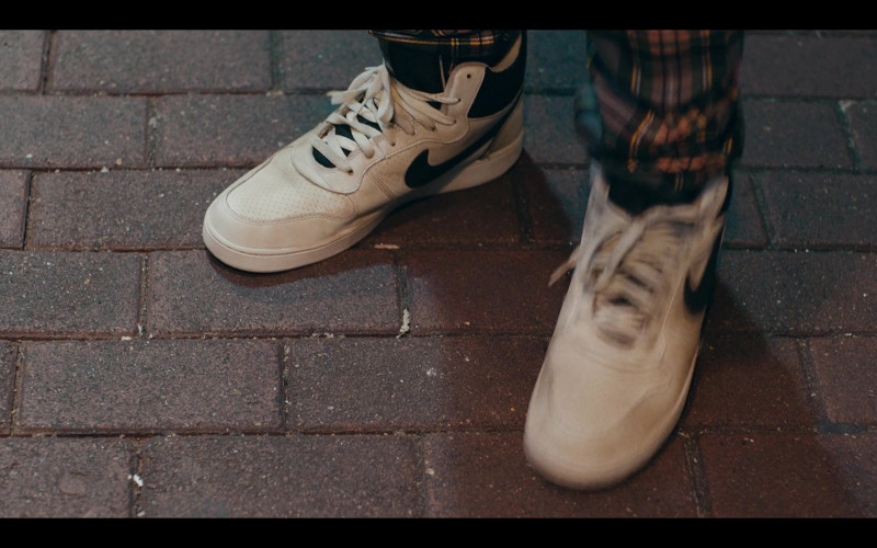Nike Court Borough Mid Leather Trainers (Black-White) in Sneakerheads S01E04 (1)