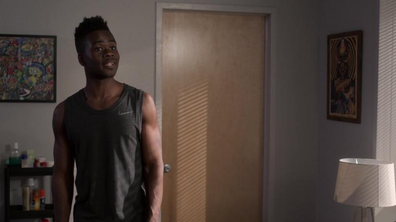 Nike Grey Tank T-Shirt of Bradley Gibson as Everett Neal in Power Book 2 Ghost S01E04 (1)