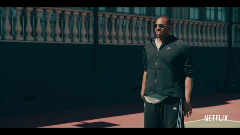 Nike Jacket and Adidas Shorts Men's Outfit in Sneakerheads Season 1 (2020)