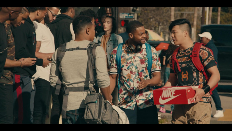 Nike Shoe Box Held by Justin Lee as Cole in Sneakerheads S01E02