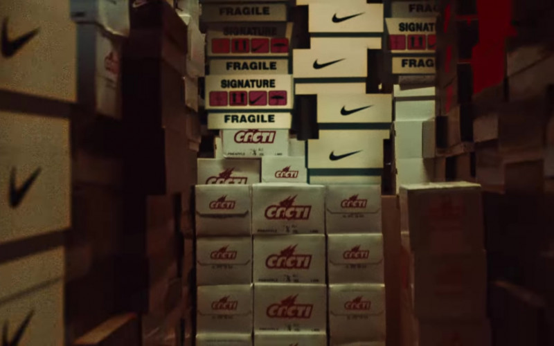 Nike Shoe Boxes in FRANCHISE by Travis Scott feat. Young Thug & M.I.A. (2020)
