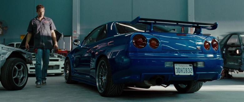 Nissan Skyline GT-R Blue Sports Car in Fast & Furious (2009)