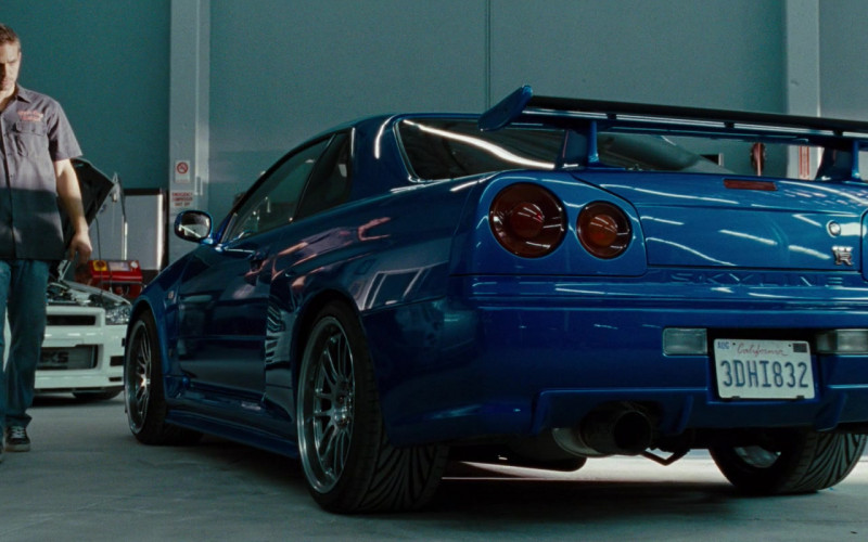 Nissan Skyline GT-R Blue Sports Car in Fast & Furious (2009)
