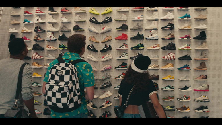 Obey Black & White Backpack of Matthew Josten as Stuey in Sneakerheads S01E02