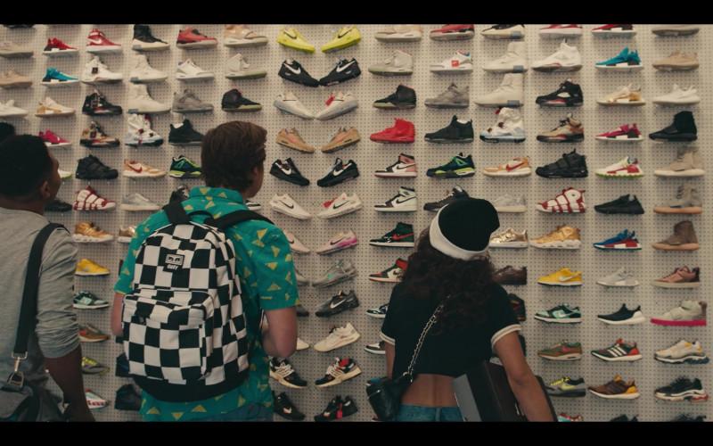 Obey Black & White Backpack of Matthew Josten as Stuey in Sneakerheads S01E02