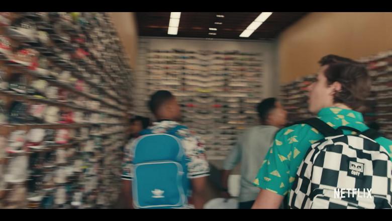 Obey Checkerboard Backpack of Matthew Josten as Stuey in Sneakerheads Season 1 (1)