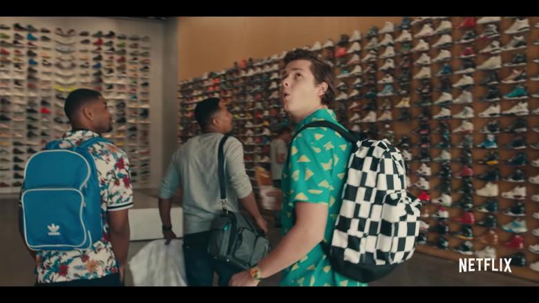 Obey Checkerboard Backpack of Matthew Josten as Stuey in Sneakerheads Season 1 (2)