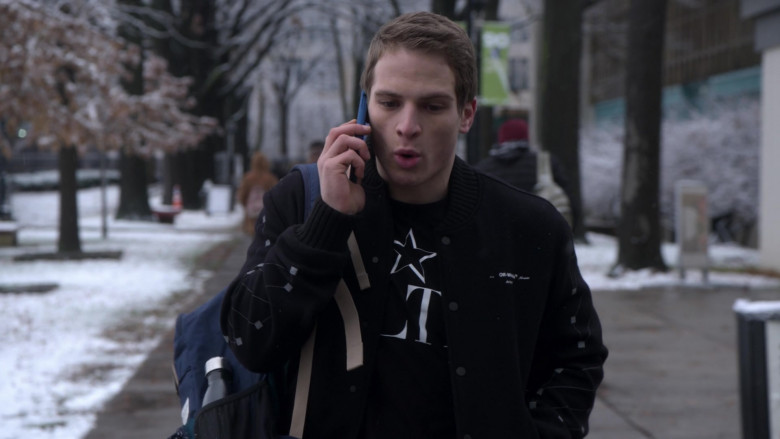 Off-White Jacket Street Style Outfit of Gianni Paolo as Brayden Weston in Power Book 2 TV Show (2)