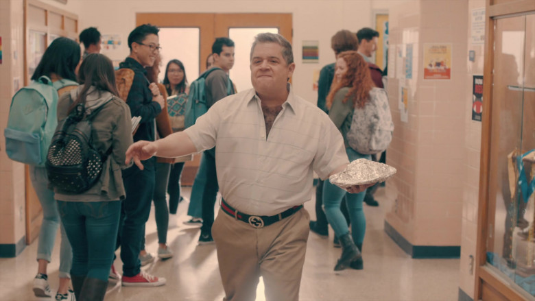 Patton Oswalt as Principal Ralph Durbin Wears Gucci Belt in A.P. Bio Season 3 TV Show (1)