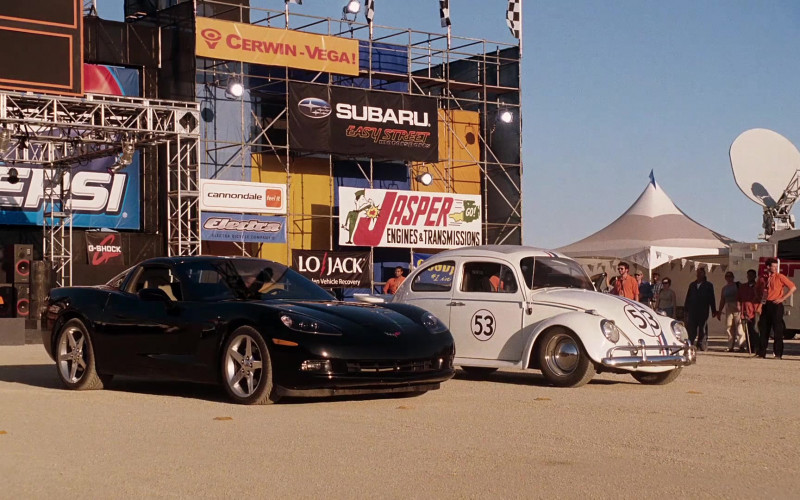 Pepsi, Cerwin-Vega, Subaru, Cannondale, Electra Bicycle Company, Jasper Engines & Transmissions in Herbie