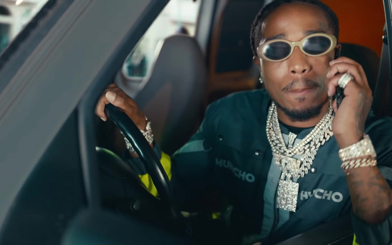 Quavo Wears Fendi Sunglasses in Pick Up Music Video
