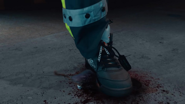 Quavo Wears Off-White x Nike Air Jordan 5 Black Shoes in Pick Up Music Vide (1)