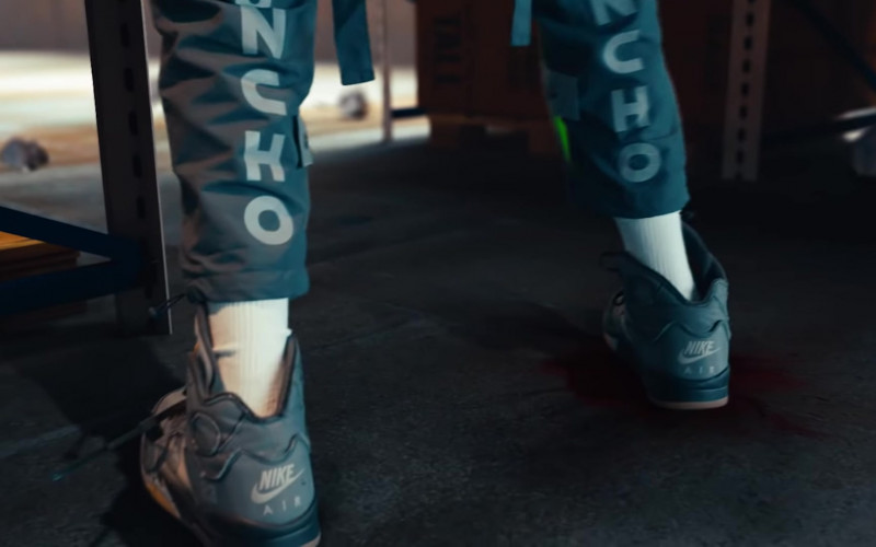 Quavo Wears Off-White x Nike Air Jordan 5 Black Shoes in Pick Up Music Vide (3)