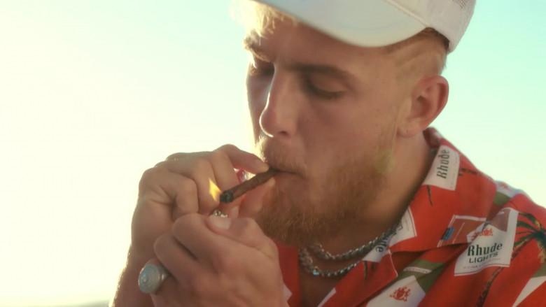 "RHUDE The Hawaiian Cigarette Print Shirt Outfit in ""23"" by Jake Paul Starring Logan Paul (3)"