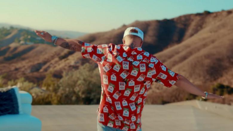 "RHUDE The Hawaiian Cigarette Print Shirt Outfit in ""23"" by Jake Paul Starring Logan Paul (4)"
