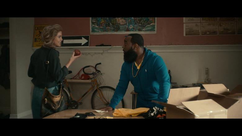 Ralph Lauren Blue Hoodie of T. Murph as Clovis in Woke S01E04 (1)