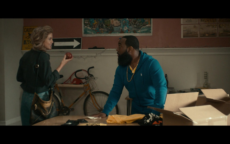 Ralph Lauren Blue Hoodie of T. Murph as Clovis in Woke S01E04 (1)