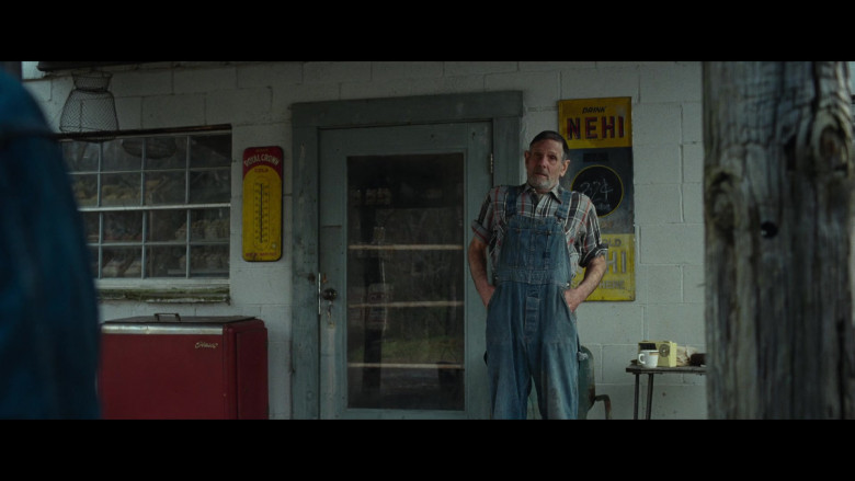 Royal Crown Cola Vintage Thermometer and Nehi Soda Retro Sign in The Devil All the Time (2020)