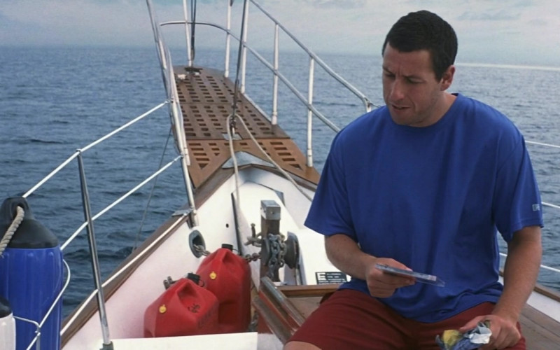 Russell Athletic Blue T-Shirt Worn by Adam Sandler as Henry Roth in 50 First Dates Movie (1)