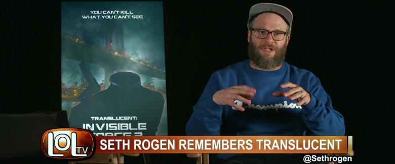Seth Rogen Wears Champion Blue Sweatshirt Outfit in The Boys Season 2 TV Show