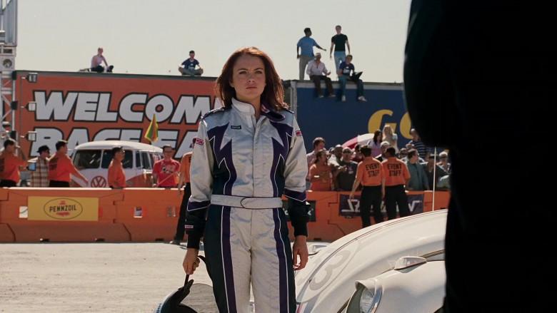 Simpson Racing Suit Outfit of Lindsay Lohan as Margaret 'Maggie' Peyton in Herbie Fully Loaded Movie (4)