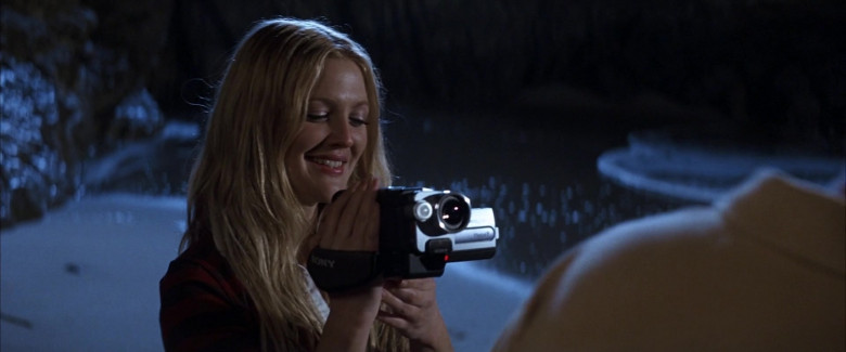 Sony Handycam Video Camera Held by Drew Barrymore as Lucy Whitmore in 50 First Dates Movie (1)