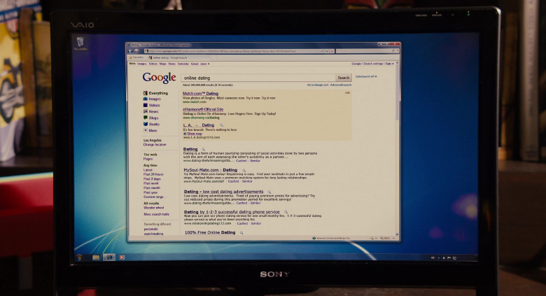 Sony Vaio Computer and Google Website in Jack and Jill (2011)