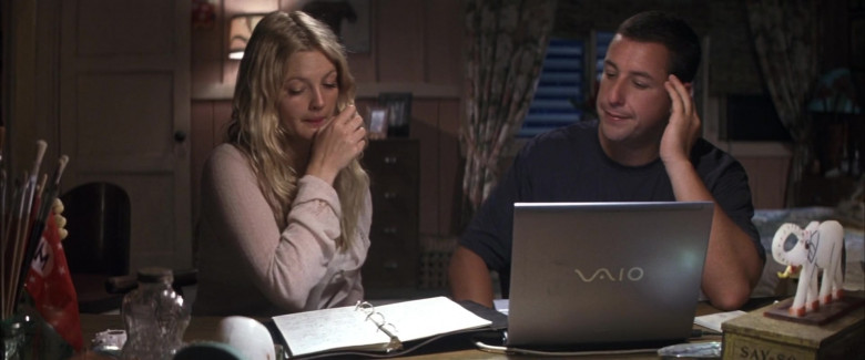Sony Vaio Laptop of Drew Barrymore as Lucy Whitmore & Adam Sandler as Henry Roth in 50 First Dates Romantic Film (1)