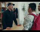Supreme Red Backpack of Actor Justin Lee as Cole in Sneakerh...
