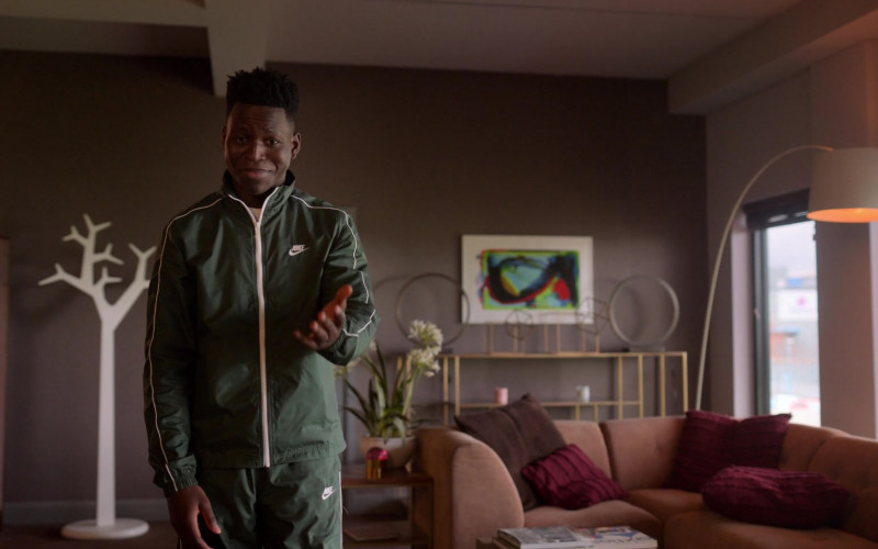 Toheeb Jimoh as Sam Obisanya Wears Nike Green Tracksuit Outfit in Ted Lasso S01E06 TV Show
