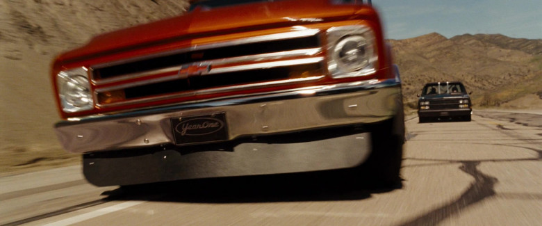 YearOne license plate Black with silver logo in Fast & Furious (2009)