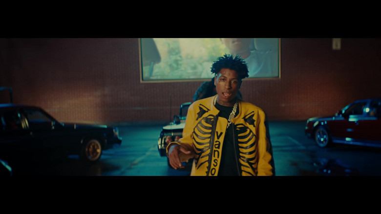 YoungBoy Never Broke Again Wears Vanson Leather Yellow Jacket Outfit in Callin Music Video (1)