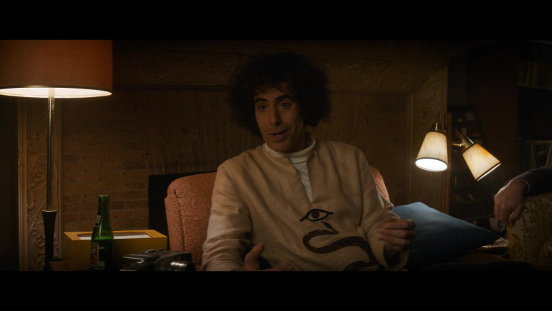 7UP Drink Enjoyed by Sacha Baron Cohen as Abbie Hoffman in The Trial of the Chicago 7 (2020)