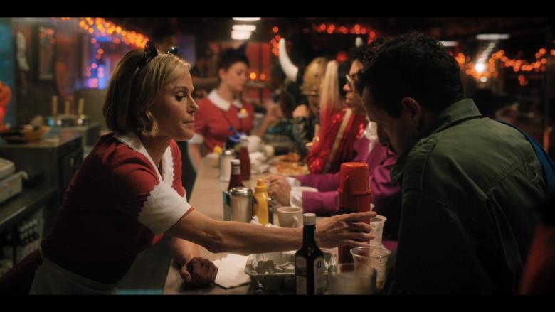 A1 Sauce Held by Adam Sandler as Hubie Dubois in Hubie Halloween (3)