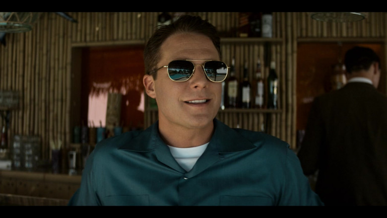 AO Pilot Sunglasses (Gold Frame) in The Right Stuff S01E02 TV Show (2)