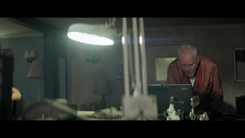 Acer Notebook Used by Malcolm McDowell as Richard Roberts in Truth Seekers S01E03 The Girl with All the Ghosts (2020)
