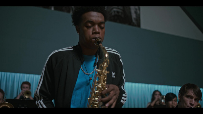 Adidas Black Tracksuit Jacket Outfit of Maliq Johnson as Jayson Jackson in Grand Army S01E09 (3)