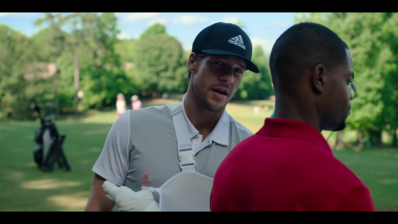 Adidas Cap of Luke Bracey as Jackson in Holidate Netflix Film (1)