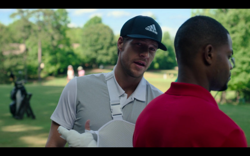 Adidas Cap of Luke Bracey as Jackson in Holidate Netflix Film (1)