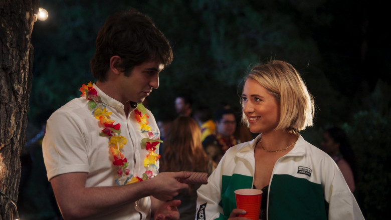 Adidas Multicolored White-Green Short Jacket Outfit of Lizze Broadway as Stephanie Stifler in American Pie Presents Girls' Rules (1)